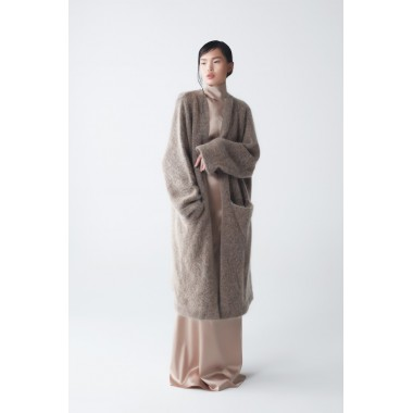 Eden Mohair Knit Coat