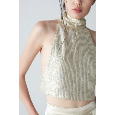 Chiara Sequin Silk Top