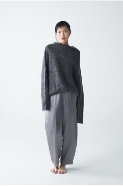 Elon Silk Trousers Gray