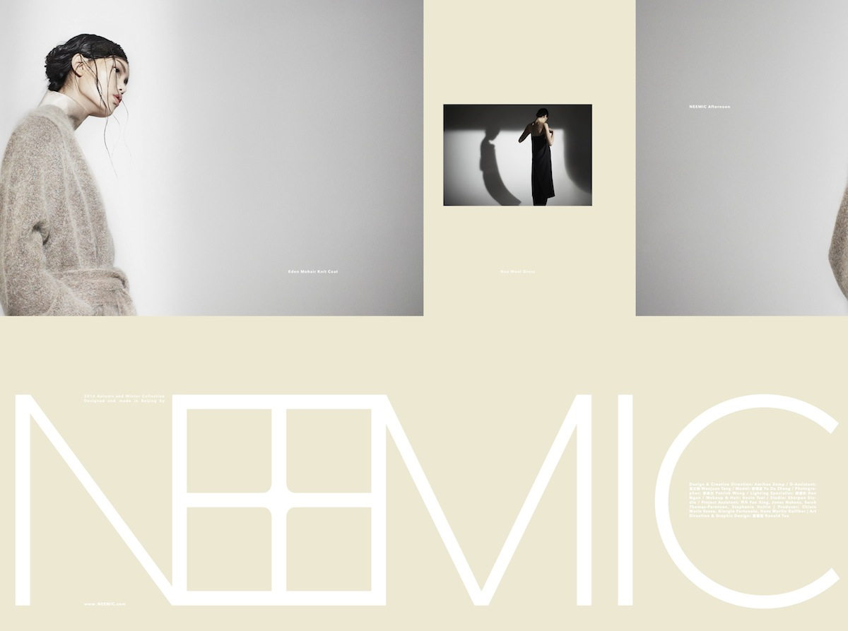 "NEEMIC Lookbook ""afternoon"" Collection AW14"