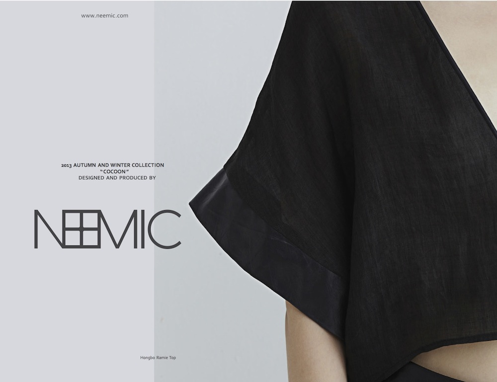 NEEMIC Cocoon Collection - Lookbook AW13